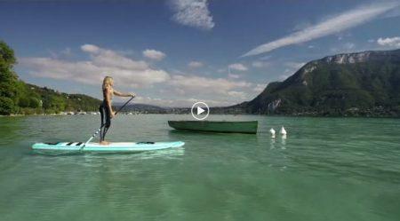 Morning session : Yoga paddle sur le lac d'Annecy pour bien commencer la journée